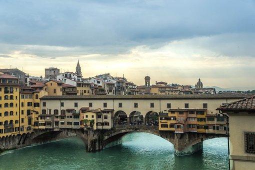 Ponte Vecchio, Florence, Italy, City, Buildings