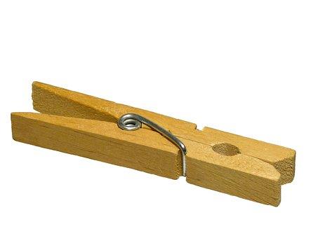 Clothes Peg, Clip, Pin, Wood, Linen Holder, Fix