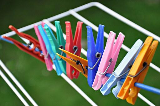 Clothes Peg, Rack, Drying Rack, Drying, Laundry, Blue