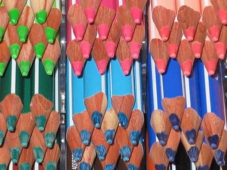 Colorful, Colored Pencils, Pens, Color, Pointed