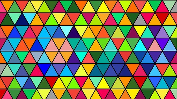 Abstract, Mosaic, Pattern, Triangle, Geometric, Colors