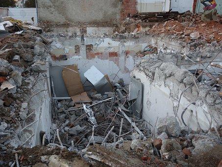 Demolition Work, Site, Debris, Keller, Mess, Tear Off