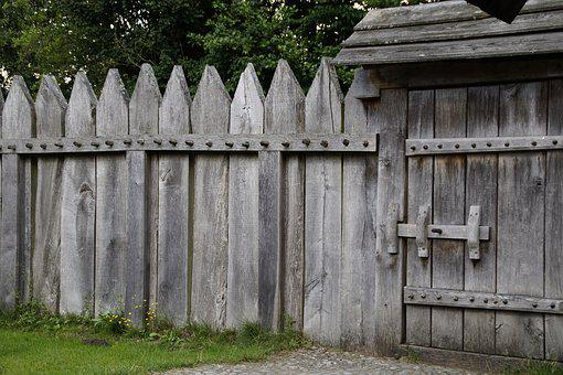 Fence, Palisade, Door, Goal, Closed, Wood Fence, Paling
