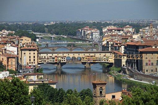 Arno River, Ponte Vecchio, Florence, Ponte, Bridge
