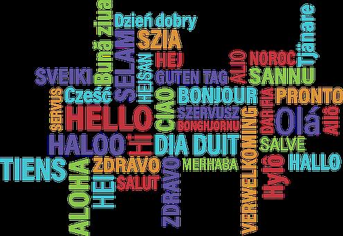 Hello, Bonjour, Hi, Greeting, Foreign, Background