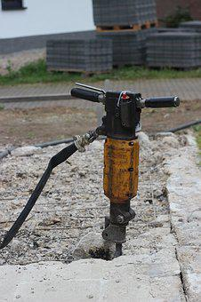 Hammer Drill, Site, Hilti, Smash, Destroy, Yellow
