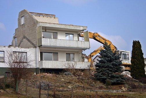 Crash, Demolition, Home, Building, Site, Ruin