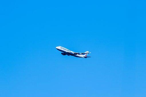 Airline, Transaero, Plane, Large, In The Air