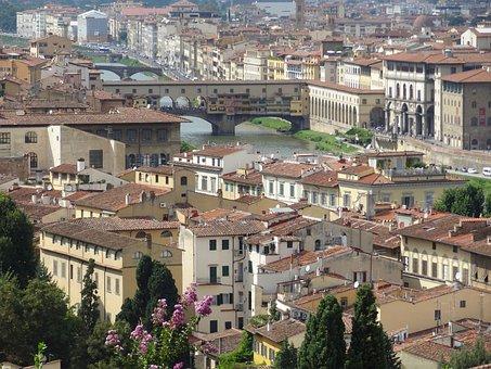 Firenze, Italy, Arno, Ponte Vecchio, Bridge, City