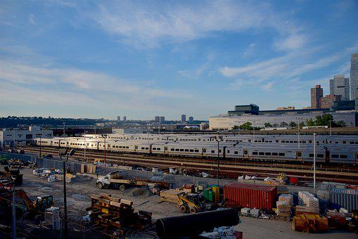 Train Yard, Nyc, City, Manhattan, Architecture, Ny