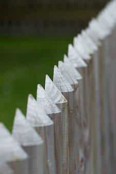 Fence, Wood, Pointed, Wood Fence, Batten, Paling