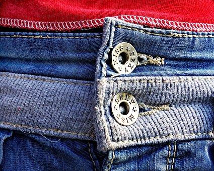 Button, Jeans, Fashion, Denim, Trousers, Pants, Female