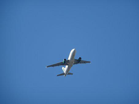 Plane Sky Blue, Passenger Machine, Start, Departure