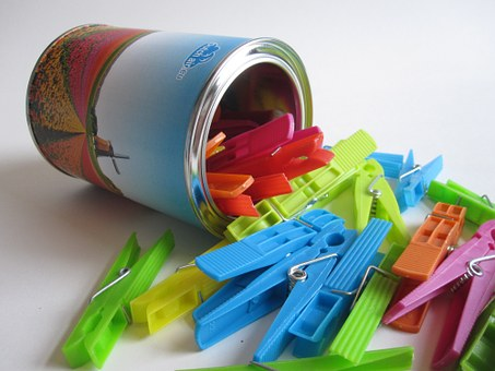 Clothes Pegs, Colorful, Color, Yellow, Green, Red