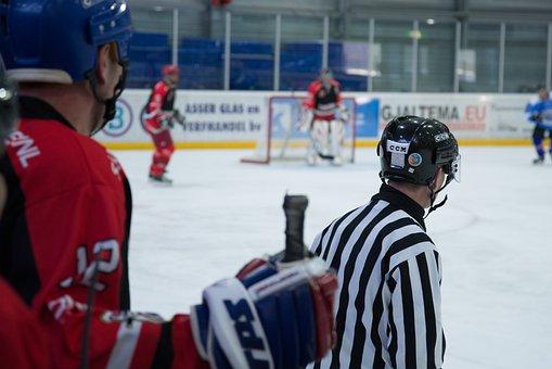 Ice, Hockey, Referee, Skating, Puck, Skate, Sport