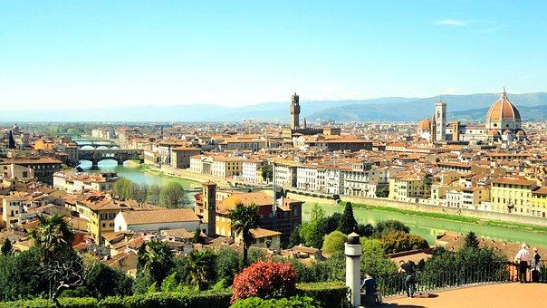 River Arno, Italy, Reflection, River, Mediterranean