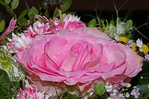 Rose, Bouquet, Flowers, Vase, Bouquets, Romance, Pink
