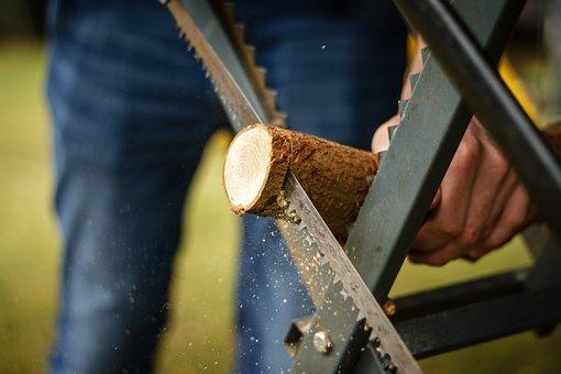 Saw, Log, Wood, Tree, Sawed Off, Woodworks, Road