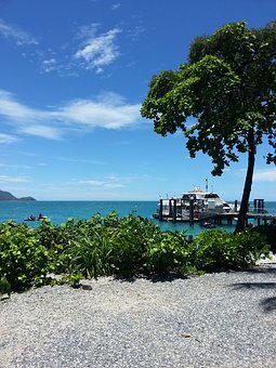 Fitzroy Island, Beach, Island, Australia, Travel, Sea