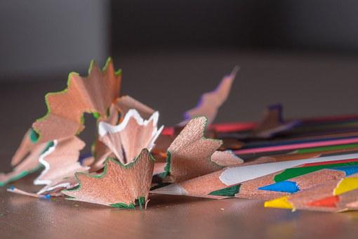 Pointed, Shavings, Holzspähne, Spitzer, Colored Pencils