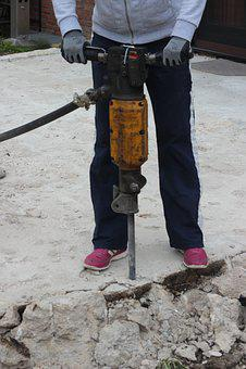Hammer Drill, Site, Hilti, Smash, Destroy, Yellow