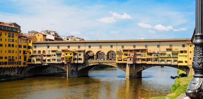 Bridge, Florence, Italy, Tourism, Famous, Monument
