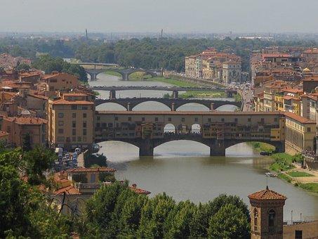 Ponte Vecchio, Florence, Panorama, Tuscany, Arno