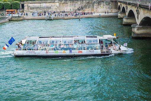 Bateau-mouche, Boad Ride, Paris Boat, Paris River