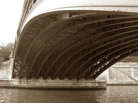 Bridge, La Seine, River, Seine, Architecture, City