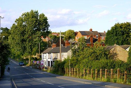 Street, Roadway, City, Buildings, Little Town