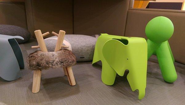 Chair, Puppy, Elephants, Kids, House, Child, Seat