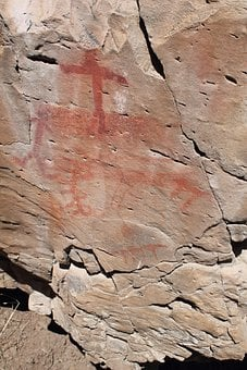 Pictograph, South Fork, Rock Art, Drawing