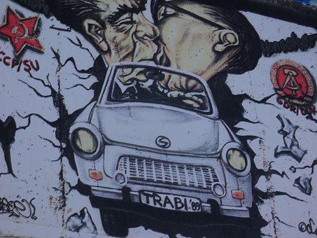 Berlin, Wall, East Side Gallery, Graffiti