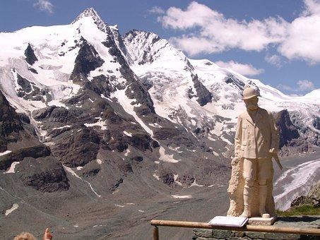 Großglockner, Austria, Hohe Tauern, Pasterze Glacier