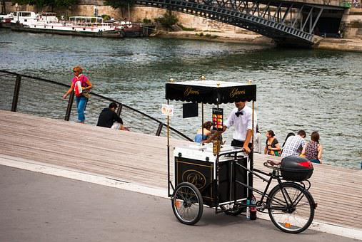 Paris, Tourism, Seine River, Hawker
