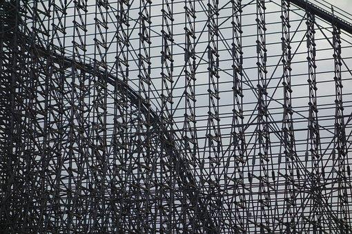 Wooden Rollercoaster, Roller Coaster, Wood, Heide Park