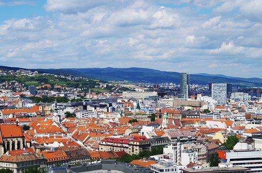 Bratislava, Slovakia, City, The Roof Of The, Houses