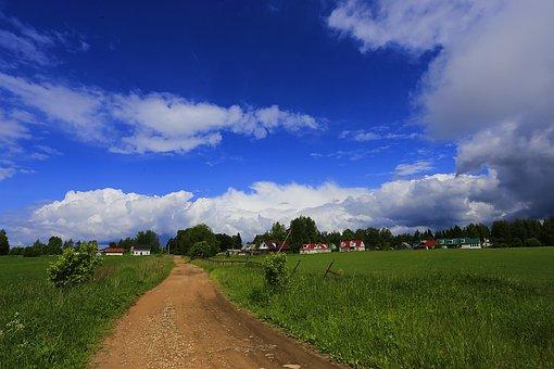 Village, Russia, Beauty, Sky, Landscape, Live Photos