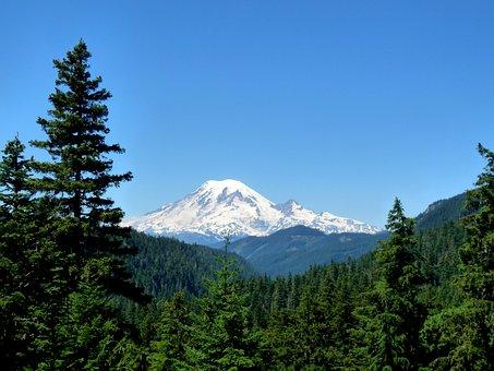 Mountain, Rainier, East Side View, Washington