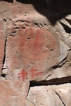 Pictograph, Rock Art, Drawing, Native American