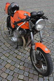 Moped, Moto, Bicycle, Oldtimer, Vehicle, Laverda