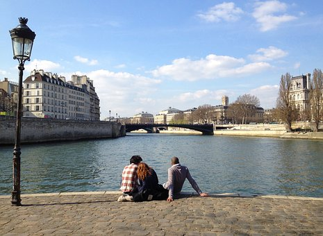 Paris, River, Seine, France, French, Architecture