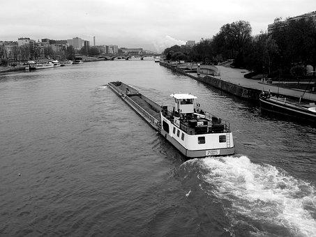 Peniche, Seine, River Transport