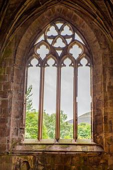 Melrose Abbey, Abbey, Scotland, Church, Stone, Medieval
