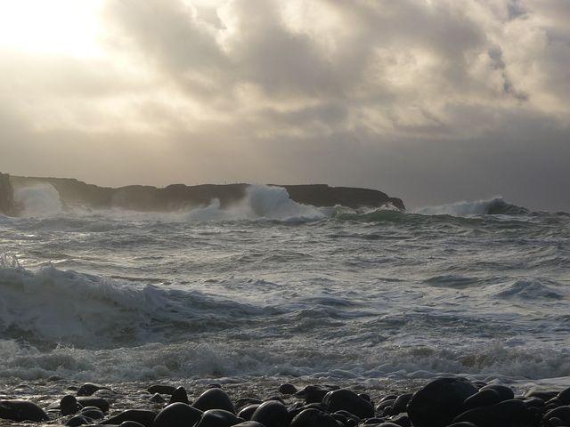 Rough, Waves, Spanish, Point, Ireland, Storm, Coast