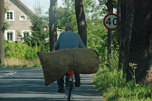Bicycle, Transport, Bag, Behind