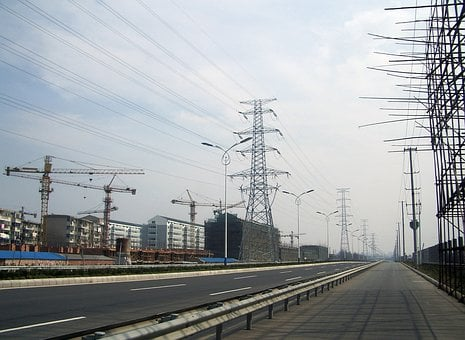 Road, Deserted, Power, Electricity, Travel, Street, Way