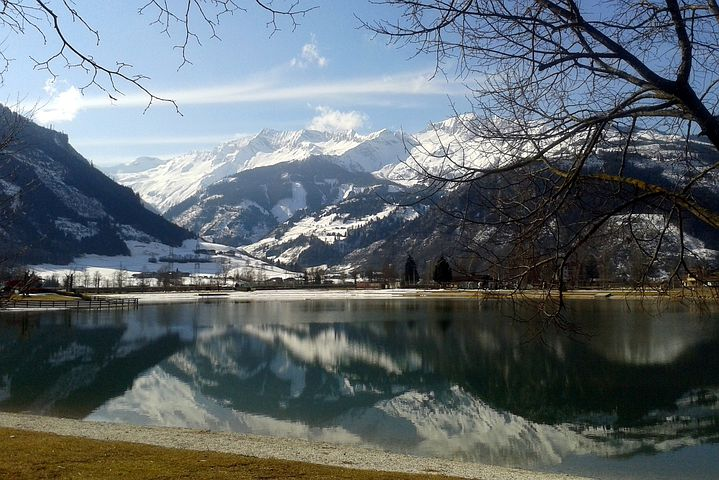 High Tauern, Lake, Mountains, Uttendorf, Badesee