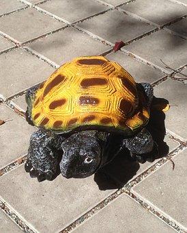 Turtle, Animal, Panzer, Reptile, Slowly, Ornament