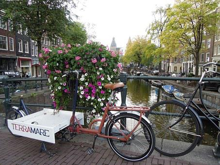 Amsterdam, Netherlands, Bicycle, Bike, Road, The Land